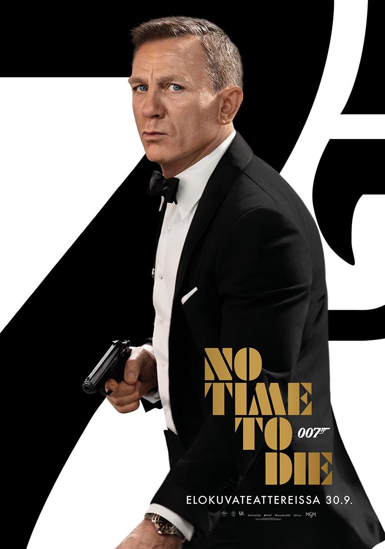 007 No Time to Die -elokuvan juliste